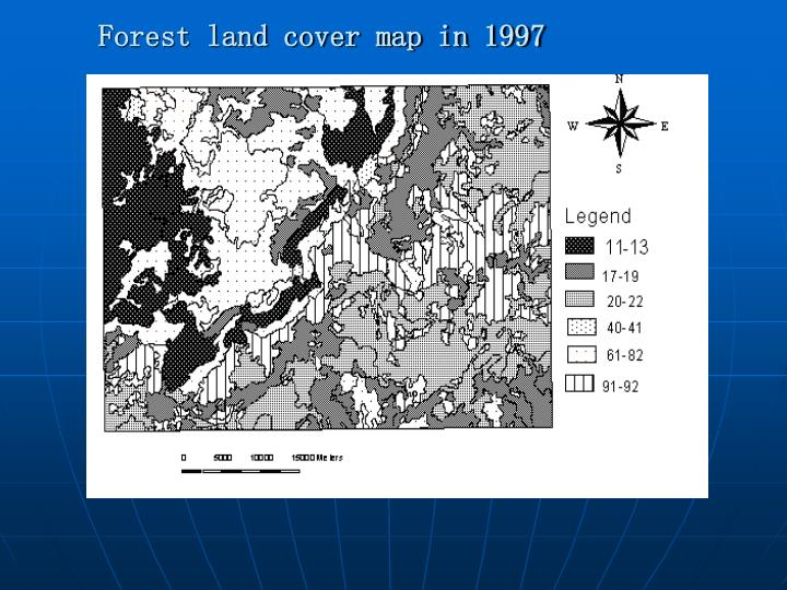 Forest land cover map in 1997