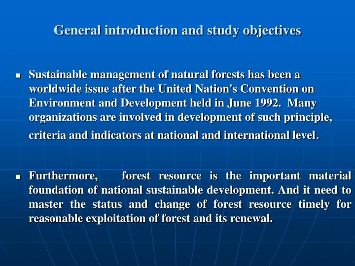General introduction and study objectives