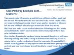 care pathway example cont cluster 5
