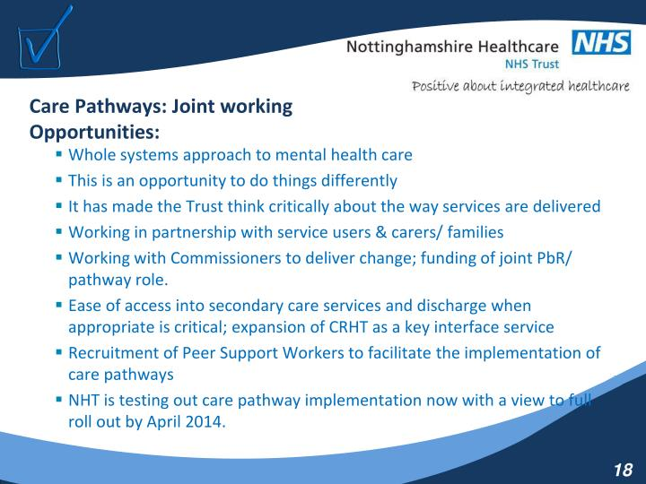 Care Pathways: Joint working