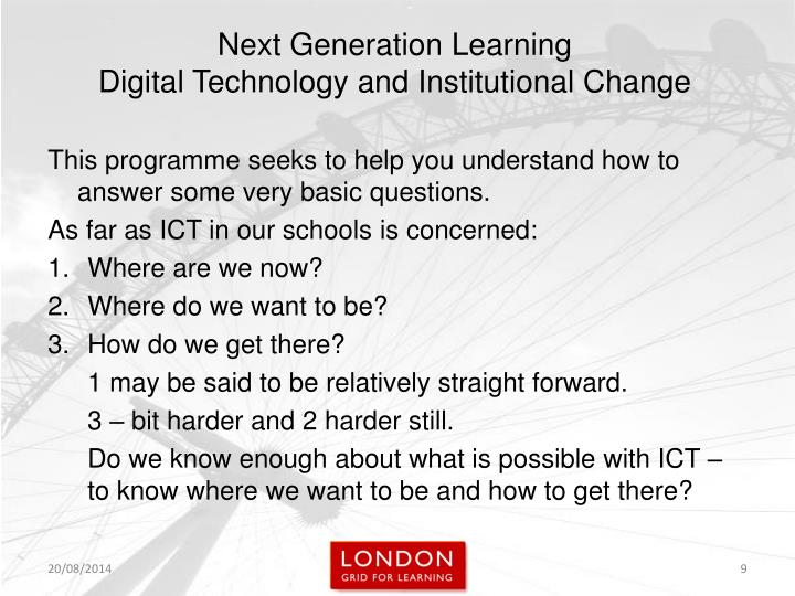 This programme seeks to help you understand how to answer some very basic questions.