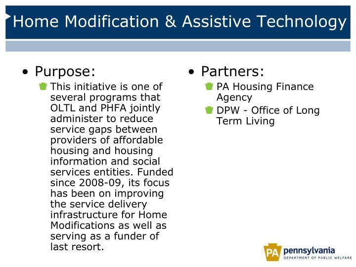 Home Modification & Assistive Technology