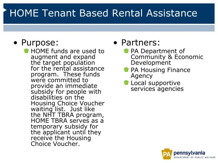 HOME Tenant Based Rental Assistance