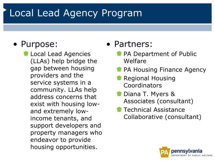 Local Lead Agency Program