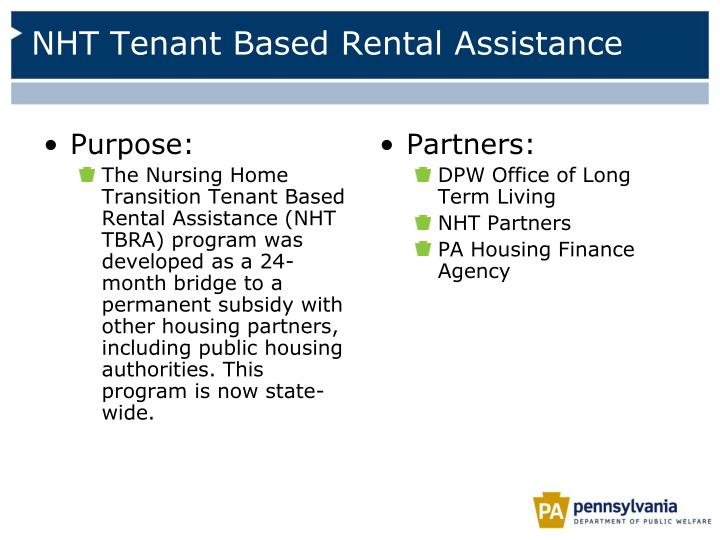 NHT Tenant Based Rental Assistance