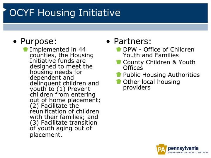 OCYF Housing Initiative