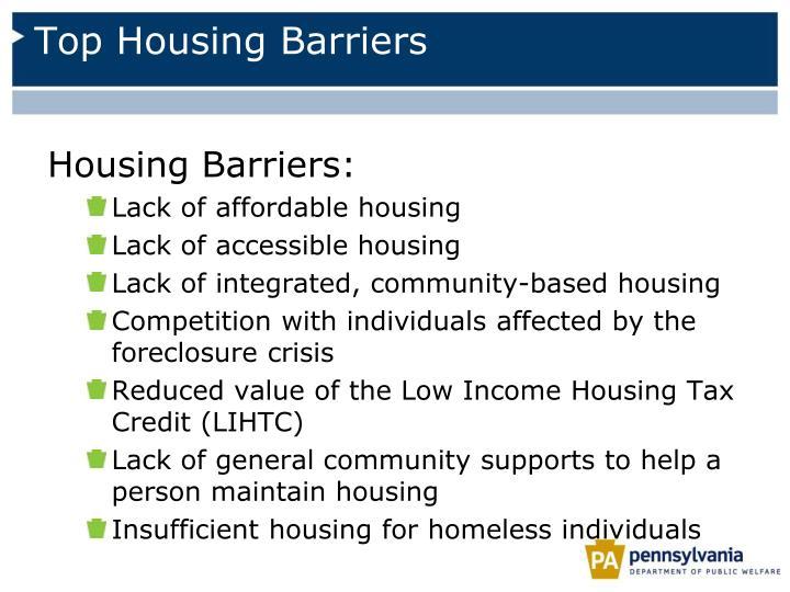 Top Housing Barriers