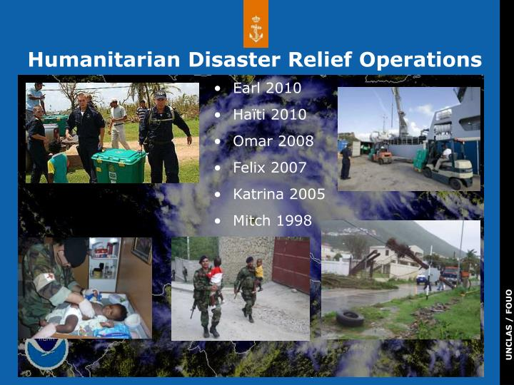 Humanitarian Disaster Relief Operations