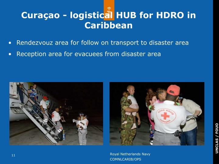 Curaçao - logistical HUB for HDRO in Caribbean