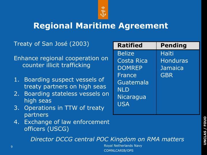 Regional Maritime Agreement