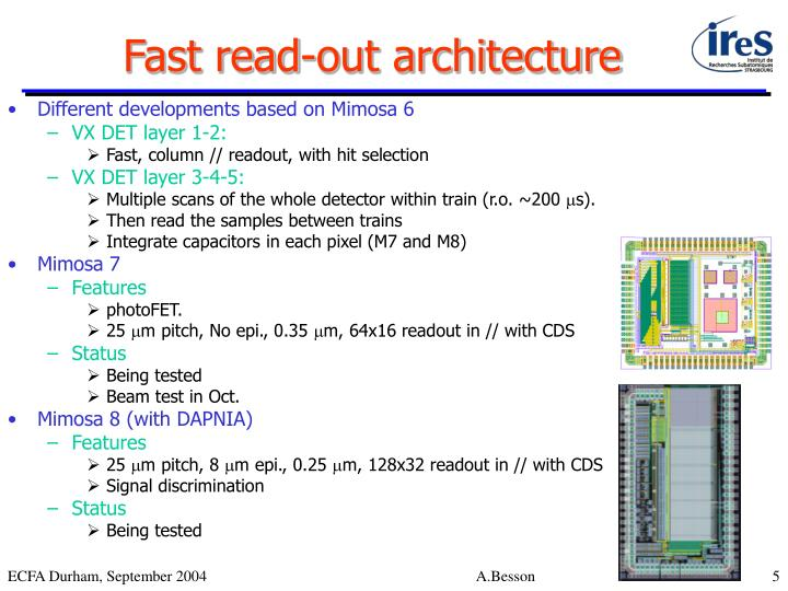 Fast read-out architecture