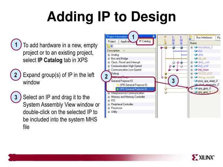 Adding IP to Design