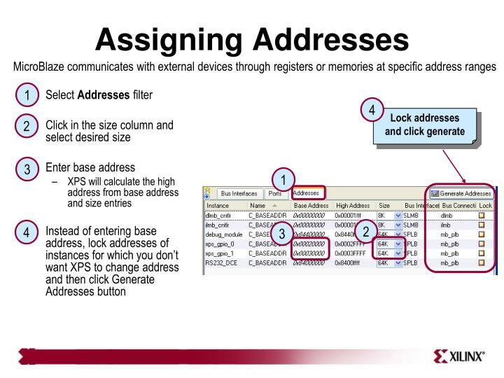 Assigning Addresses