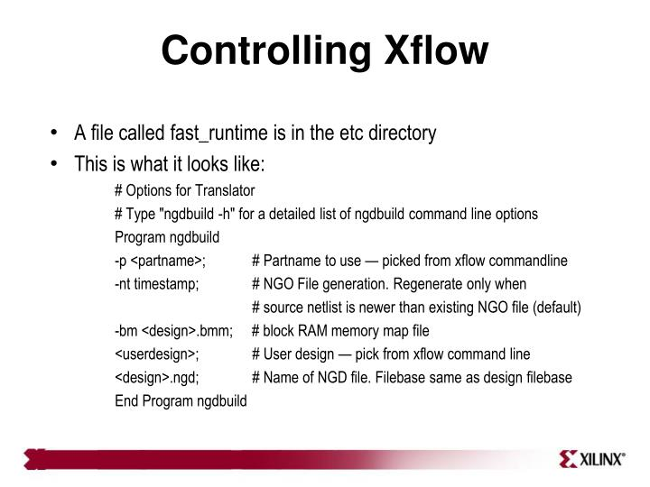 Controlling Xflow