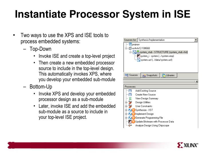 Instantiate Processor System in ISE