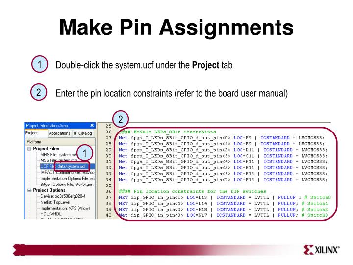 Make Pin Assignments