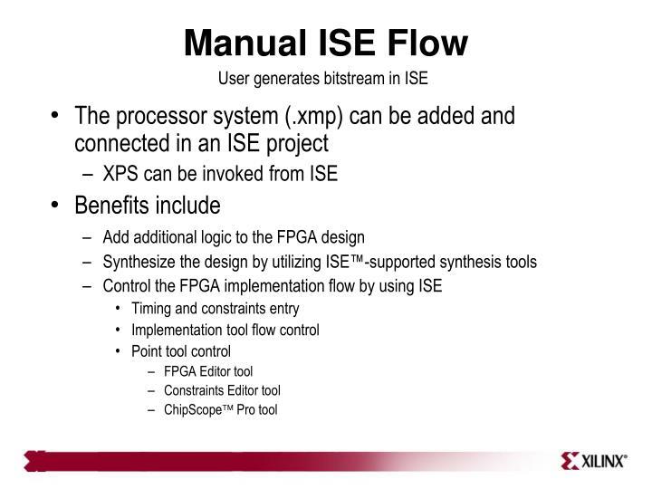 Manual ISE Flow