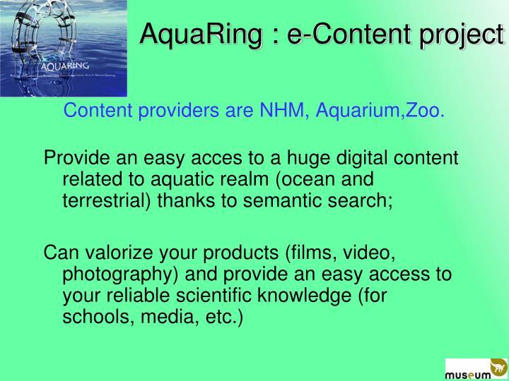 AquaRing : e-Content project