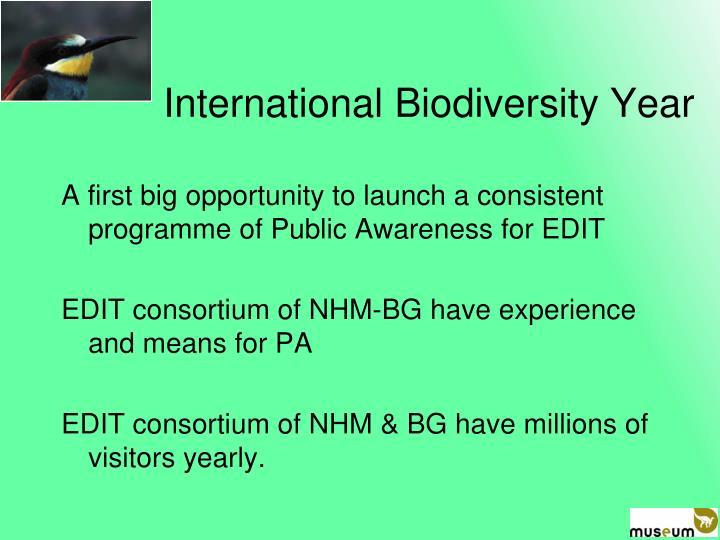 International Biodiversity Year