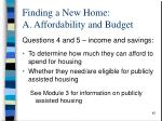 finding a new home a affordability and budget