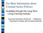 for more information about criminal justice policies