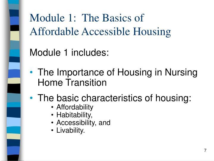 Module 1:  The Basics of