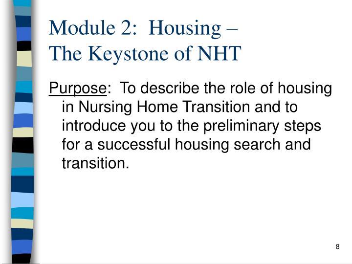 Module 2:  Housing –