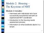 module 2 housing the keystone of nht1