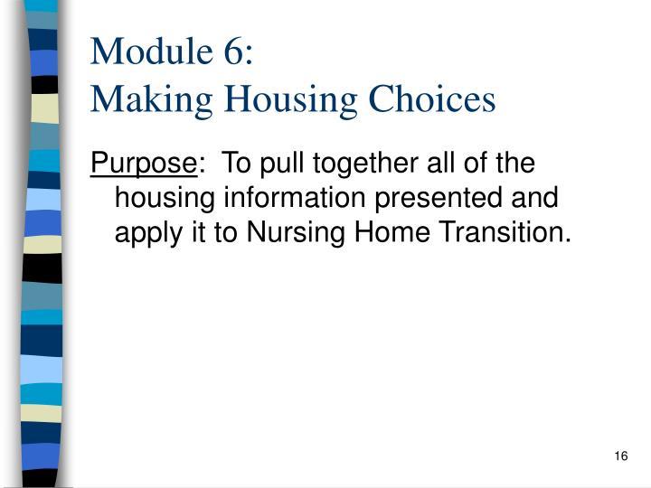 Module 6: