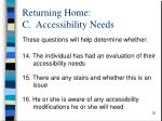 returning home c accessibility needs