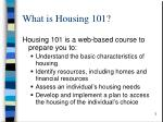what is housing 101
