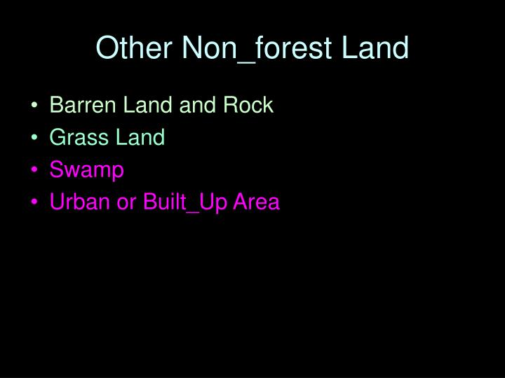Other Non_forest Land