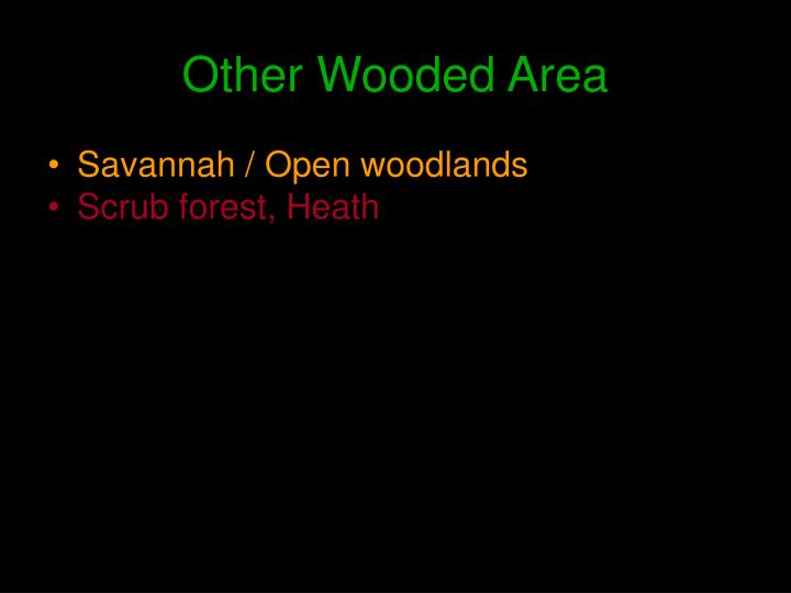 Other Wooded Area