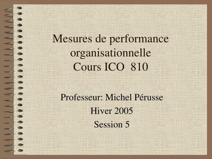 Mesures de performance organisationnelle