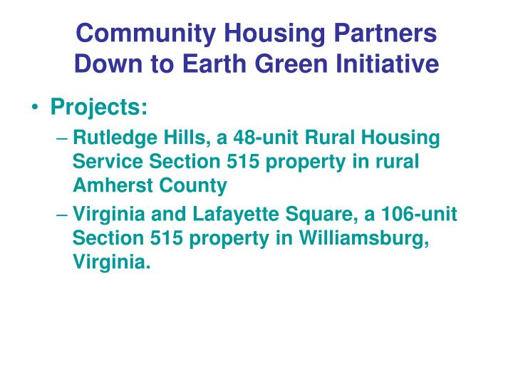 Community Housing Partners
