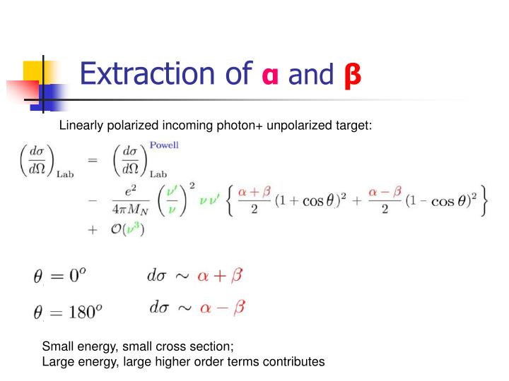 Extraction of