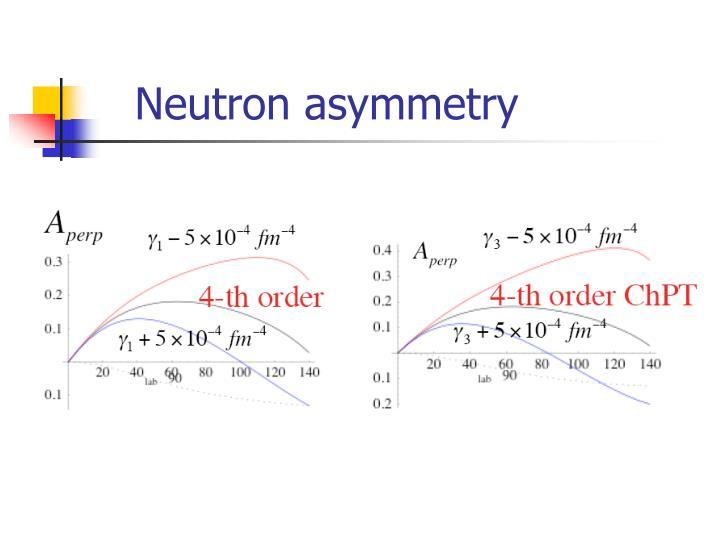 Neutron asymmetry