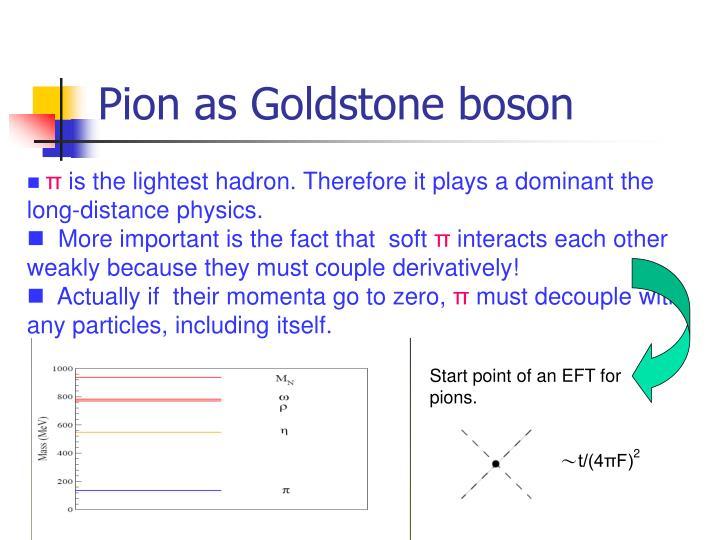Pion as Goldstone boson