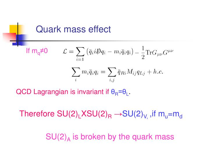 Quark mass effect