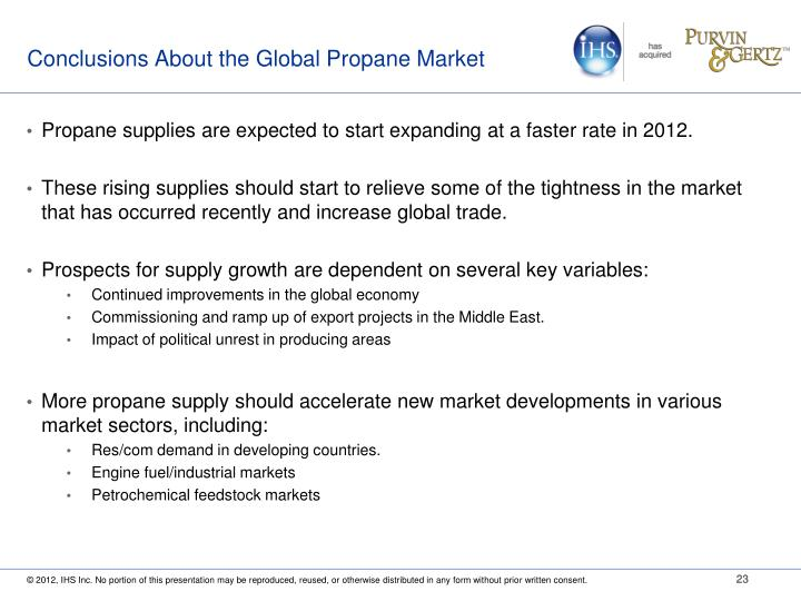 Conclusions About the Global Propane Market