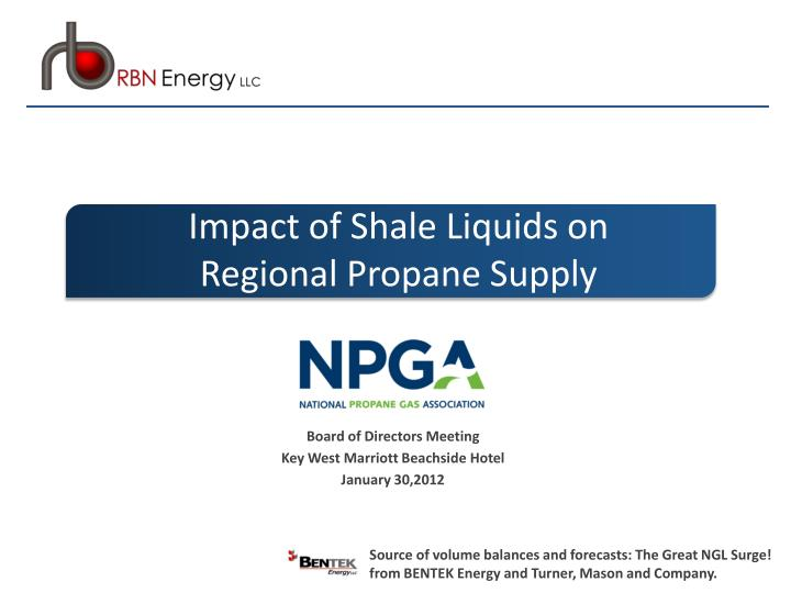 Impact of Shale Liquids on Regional Propane Supply