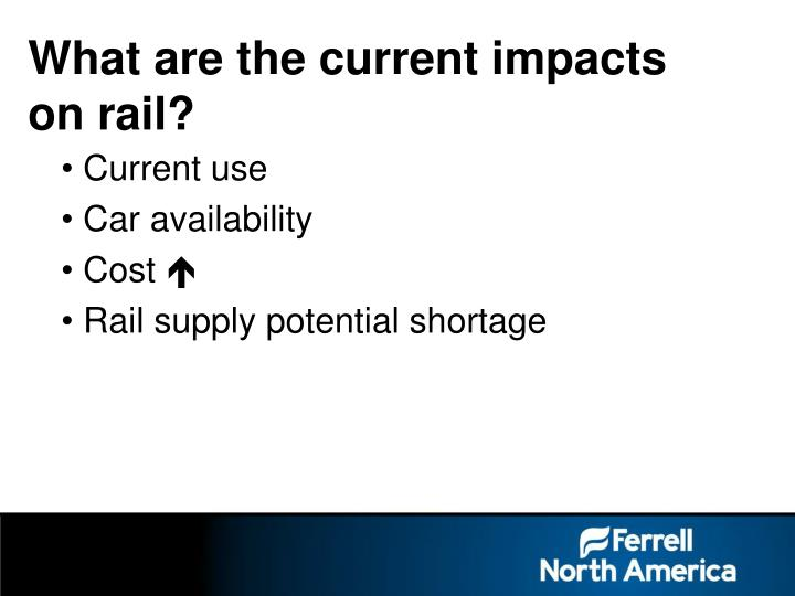 What are the current impacts