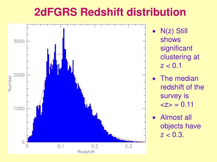 2dFGRS Redshift distribution