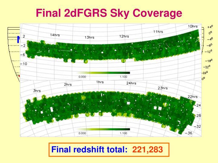Final 2dFGRS Sky Coverage