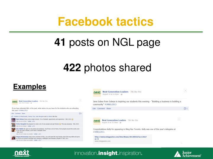 Facebook tactics