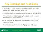 key learnings and next steps1