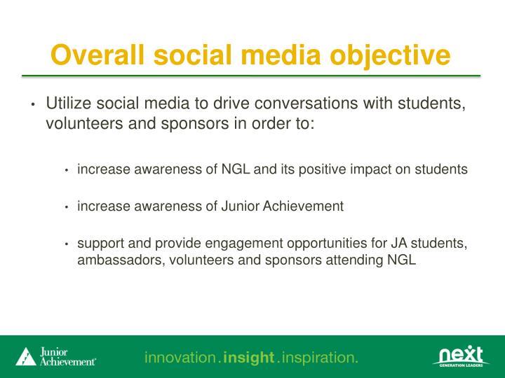 Overall social media objective