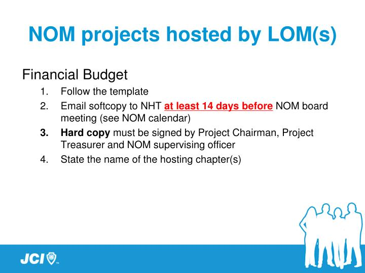 NOM projects hosted by LOM(s)