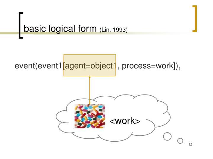 basic logical form
