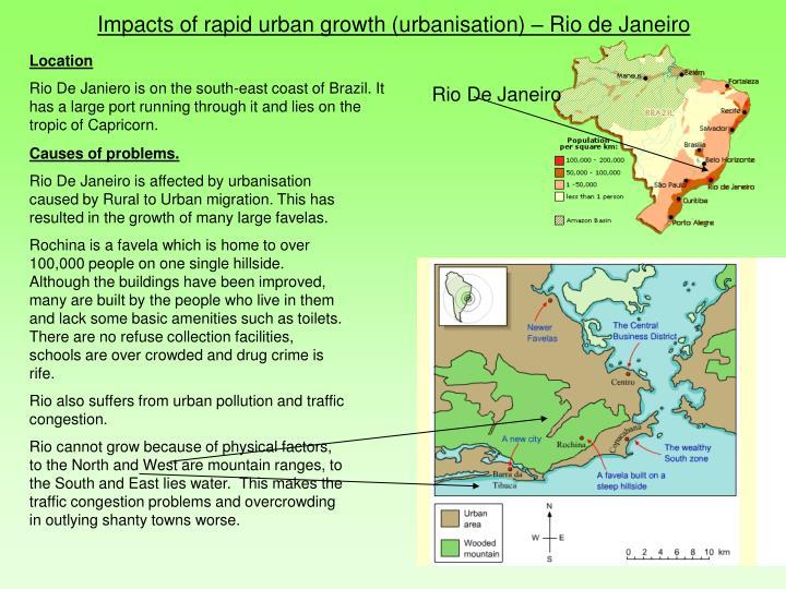 Impacts of rapid urban growth (urbanisation)
